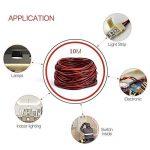 10m 10m 20AWG Jauge Fil électrique Rouge Noir Hookup Stranded Auto 2basse tension 12V DC Fil de cuivre pour seule Couleur LED strip câble d'extension Cordon de la marque ktjes image 2 produit