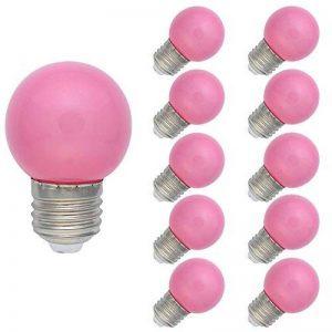 10 Pack E27 Ampoule Couleur 1W Lampe Couleur LED 70-100LM Ampoule Rose Adapté aux Décoration AC 220V-240V de la marque Tatalantai image 0 produit