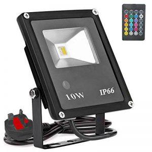 10W RGB Projecteur, minkoll en plein air Étanche Paysage Lampe W/Télécommande Projecteur à LED, lumière Lèche-mur, 14Couleur Europ? ischen Culot de la marque Minkoll image 0 produit