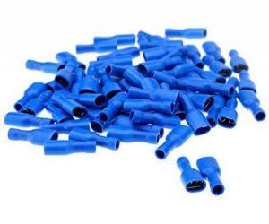 100pcs Bleu Cosse Electrique plates Connecteurs Isolées à Sertir femelle 6.3mm Assortiment sertissage de la marque Micro Trader image 0 produit