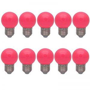 10X E27 Ampoules Couleur 1W Ampoule de Rose Faible Consommation 70-100LM Couleur à LED 220V-240V de la marque ITALASA image 0 produit