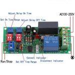1pc AC100V-250V Module de minuterie à cycle infini,Relais de temporisation ON/OFF, Module de commutation de temps réglable RD72-A, Module relais de minuterie de la marque Hilitand image 1 produit