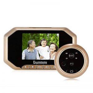 3.5 Pouces LCD Porte Spectateur, Sonnette sans Fil, Portier Interphone, Visiophone Vidéo, Caméra Vidéo, Fonction de Vision Nocturne, Metal en Alliage de Zinc,Deux Couleurs Or de la marque XIAOWANG image 0 produit