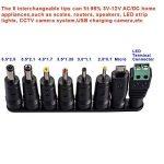 30W universel Multi Tension AC/DC adaptateur d'alimentation à découpage avec 8connecteurs avec micro USB plug LED et connecteur terminal pour 3V 4.5V 5V 6V 7.5V 9V 12V Electronics de la marque Derieter image 2 produit