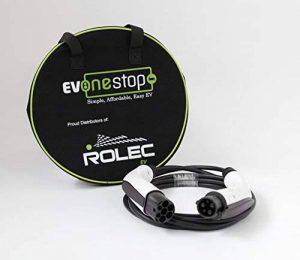 32Amp 10metre de long type 1–Type 2EV Electric Phev véhicule chargement rapide câble ~ UK 4. ~ Mitsubishi Outlander ~ Nissan Leaf étui gratuit de la marque EV OneStop Simple, Affordable, Easy EV image 0 produit
