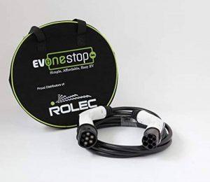32Amp 5metre de long type 2–Type 2Véhicule électrique 22kW ultra-rapide 3phase câble Renault Zoe Tesla étui gratuit de la marque EV OneStop Simple, Affordable, Easy EV image 0 produit