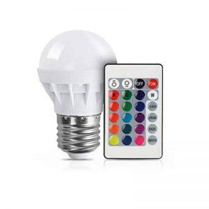 3W RVB LED ampoule colorée E27 multicolore gradateur lampe d'ampoule télécommande sans fil d'intérieur pour le mariage de fête de Noël de la marque Delicacydex image 0 produit