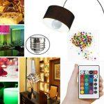 3W RVB LED ampoule colorée E27 multicolore gradateur lampe d'ampoule télécommande sans fil d'intérieur pour le mariage de fête de Noël de la marque Delicacydex image 1 produit