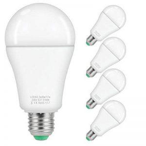 4X LOHAS 2-8-17W A60 E27 Blanc Chaud 2700K, Ampoule LED, 25-60-100W Ampoule Halogène Équivalent, 220-240V AC, 250-810-1800lm, 240°Larges Faisceaux, LED Lampe E27 de la marque Lohas-Led image 0 produit