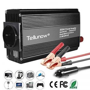 500W Convertisseur DC 12V to AC 220 V230V 240V Power Inverter Transformateur de Tension De Voiture avec 4.2A Double USB Et 1 Sorties AC pour Smartphones, Tablette, Ordinateur Portable, Nébuliseur de la marque Tellunow image 0 produit