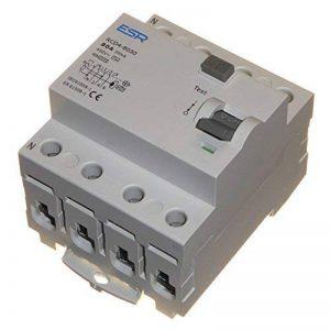 80A 30mA RCD à Trip commutateur 4Pole Rail DIN trois phases 400V de la marque ESR image 0 produit