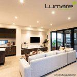 9x Lumare Slim Line LED spot encastrable IP44 rond/blanc avec seulement une profondeur d'installation de 27 mm! Spot de plafond 4W 400lm AC 230V de la marque Lumare image 1 produit
