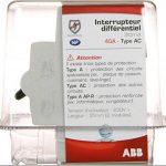 ABB 443051GSB Interrupteur différentiel à bornes décalées Type AC de la marque ABB image 1 produit