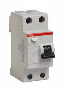 ABB 444061GSB Interrupteur différentiel à bornes décalées Type AC 63 A de la marque ABB image 0 produit