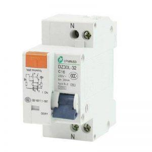 AC 230V 16A 1 Polonais 1P surcharge Protection disjoncteur différentiel Disjoncteur de la marque dealX image 0 produit