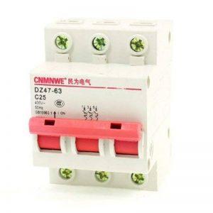 AC 400V 25A 3 Pole Rail DIN interrupteur ON / OFF Mini disjoncteur 6000A de la marque DealMux image 0 produit
