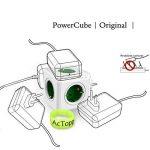 ACTOPP Allocacoc PowerCube Adaptateur Bloc Mural 5 Prises sans Fil Blanc Vert de la marque ACTOPP image 3 produit