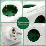 ACTOPP Allocacoc PowerCube Adaptateur Bloc Mural 5 Prises sans Fil Blanc Vert de la marque ACTOPP image 4 produit