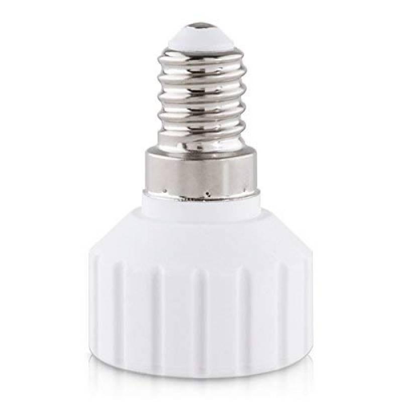 Adaptateur de support de lampe culot ba/ïonnette pour ampoule LED halog/ène kwmobile 4x adaptateur de douille Convertisseur douilles E14 vers GU10