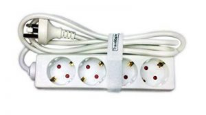 Adaptateur de voyage AUSTRALIE Traveldapter Fil d'extension portable Multi Plug Safe 4 douilles de type I Compact pour les voyages internationaux Connecteur F à fiche à 2 broches Cordon blanc de 1,5 mètre de long de la marque Traveldapter image 0 produit
