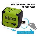 Adaptateur de Voyage avec 2 USB Adaptateur Universel Pris de Courant pour UE/US /UK/AUS Utilisé dans Plus de 150 Pays Adaptateur Chargeur avec Deux fusible(fusible de Rechange)-Vert-MILOOL de la marque Milool image 4 produit
