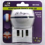 Adaptateur De Voyage France Vers Grande Bretagne GB / Angleterre / UK - Gamme Bulle- BB0165 - LTE Design - Leach Travel Europe de la marque LTE Design image 2 produit