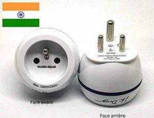 Adaptateur De Voyage France Vers Inde - Gamme Bulle- BB0183 - LTE Design - Leach Travel Europe de la marque LTE Design image 0 produit