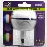 Adaptateur De Voyage France Vers Italie - Gamme Bulle- BB0162 - LTE Design - Leach Travel Europe de la marque LTE Design image 2 produit