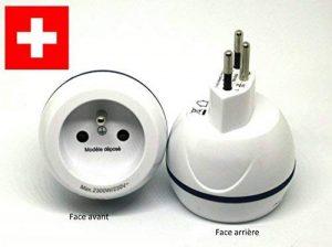Adaptateur De Voyage France Vers Suisse - Gamme Bulle- BB0163 - LTE Design - Leach Travel Europe de la marque LTE Design image 0 produit