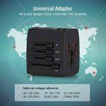 Adaptateur Voyage International, HOMEASY Adaptateur Universel Voyage avec 4 USB pour UE/US /UK/AUS, Prise Universelle Utilisé dans Plus de 150 Pays (Noir) de la marque homeasy image 4 produit