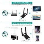 Adaptateurs USB Wifi, M.Way Clé Wifi USB 3.0 avec Antenne Double Bande AC1200Mbps Deux Fréquences 2,4/5 GHz 802.11n/g/b/a/ac Wi-Fi Dongle sans fil Compatible avec Linux / Windows XP / VISTA / 7 / 8/10, Mac OS X 10.6-10.12 1200Mbps de la marque M.Way image 2 produit