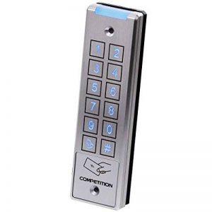 AE Château de code et RFID ouverture de porte, éclairage bleu, montage en surface, 2relais indépendante utilisable, classe de protection extérieur IP65, argent, AE de 32dt de la marque AE image 0 produit