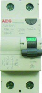 AEG AUN604944 Inter Différentiel 63 A 30 mA Type A de la marque AEG image 0 produit