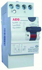 AEG AUN605823 Inter Différentiel 40 A 30 MA Type AC avec bornes étagées de la marque AEG image 0 produit