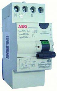 AEG AUN605825 Inter Différentiel 40 A 30 MA Type A avec bornes étagées de la marque AEG image 0 produit