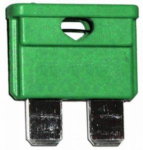 AERZETIX: 10 fusibles 30A vert midi 19mm 6V 12V 24V 32V pour auto moto voiture camion poids lourds de la marque AERZETIX image 0 produit
