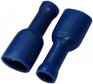 Aerzetix: 100x Cosse électrique femelle plate 6.3mm 0.8mm 1.5-2.5mm2 isolée bleu de la marque AERZETIX image 0 produit