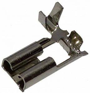 Aerzetix: 10x Cosse électrique femelle plate coudée 4.8mm 0.8mm 0.5-1mm2 de la marque AERZETIX image 0 produit