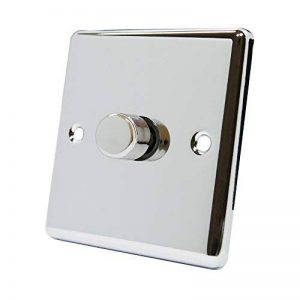 AET cpc1gdim41Gang 2Way 10A 400W Classical Chrome Poli Light Dimmer Switch by AET de la marque AET image 0 produit
