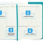 Agenda scolaire Action Day - Permet d'inscrire vos objectifs et vos rendez-vous pour gérer tous les événements à venir et améliorer votre productivité - Organisation quotidienne, hebdomadaire, mensuelle et annuelle - Reliure cousue 6x8 Inch - 2018-19 turq image 1 produit