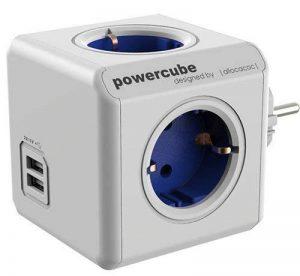 allocacoc Power Cube 1202BL/DEOUPC Chargeur extendeur pour Smartphone/Tablette USB 2.1 Bleu/Blanc de la marque Allocacoc image 0 produit
