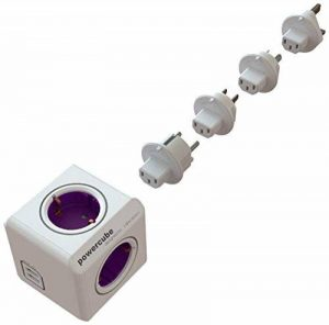 allocacoc PowerCube DuoUSB ReWirable + Plug, bloc multiprise à 4 prises 230V + 2 prises USB de la marque PowerCube image 0 produit
