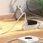 Allocacoc PowerCube Extended DuoUSB Adaptateur avec 2 ports USB/4 prises pour Tablette 230 V Blanc de la marque Allocacoc image 3 produit