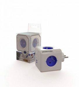 Allocacoc PowerCube Original DuoUSB - Alimentation avec 4 prises 230V et 2 prises USB (2.1 A), FR, Blanc et Bleu de la marque Allocacoc image 0 produit