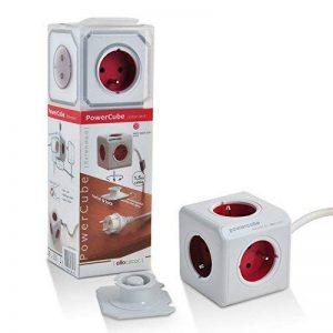 Allocacoc PowerCube Original Extended Bloc Multi-prise à 5 Prise FR Cordon Schuko 1,5 Mètre (Boston Rouge) de la marque PowerCube image 0 produit