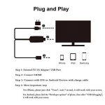 AMANKA Adaptateur Phone to HDMI Câble, Convertisseur MHL vers HDMI Digital AV Mirroring Full HD 1080p USB High Speed pour Phone Samsung et Pad Projecteur TV de la marque AMANKA image 2 produit