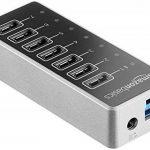 AmazonBasics Hub USB-C 3.1 7 ports avec adaptateur secteur 36 W (12 V/3 A), Argenté, UE de la marque AmazonBasics image 2 produit