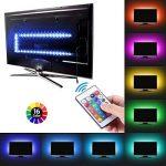 AMIR Ruban à LED RGB pour HDTV, Rétroéclairage TV, 30 LED 1M, USB Powered Imperméable Flexible Rétro-éclairage, Lampe à Rayons LED Multicolores avec Télécommande de la marque AMIR image 1 produit