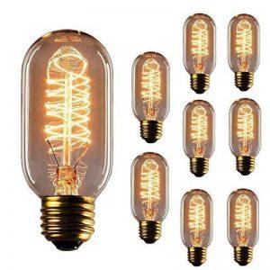 Ampoule de style Edison, Hostweigh T45vintage décoratifs ampoule LED, E27E26Base, à intensité variable ampoule à filament pour maison luminaires, 110–130V 40W, Blanc chaud, Lot de 9 de la marque Hostweigh image 0 produit
