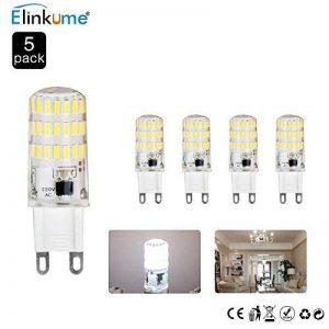 Ampoule G9 LED Éclairage Économiseur D'énergie Lampes (L)50mm*(W)15mm Blanc Froid 5W 400LM Super Lumineux (5 Pack) S'appliquent au Salon, Éclairage de Pièce de la marque ELINKUME image 0 produit